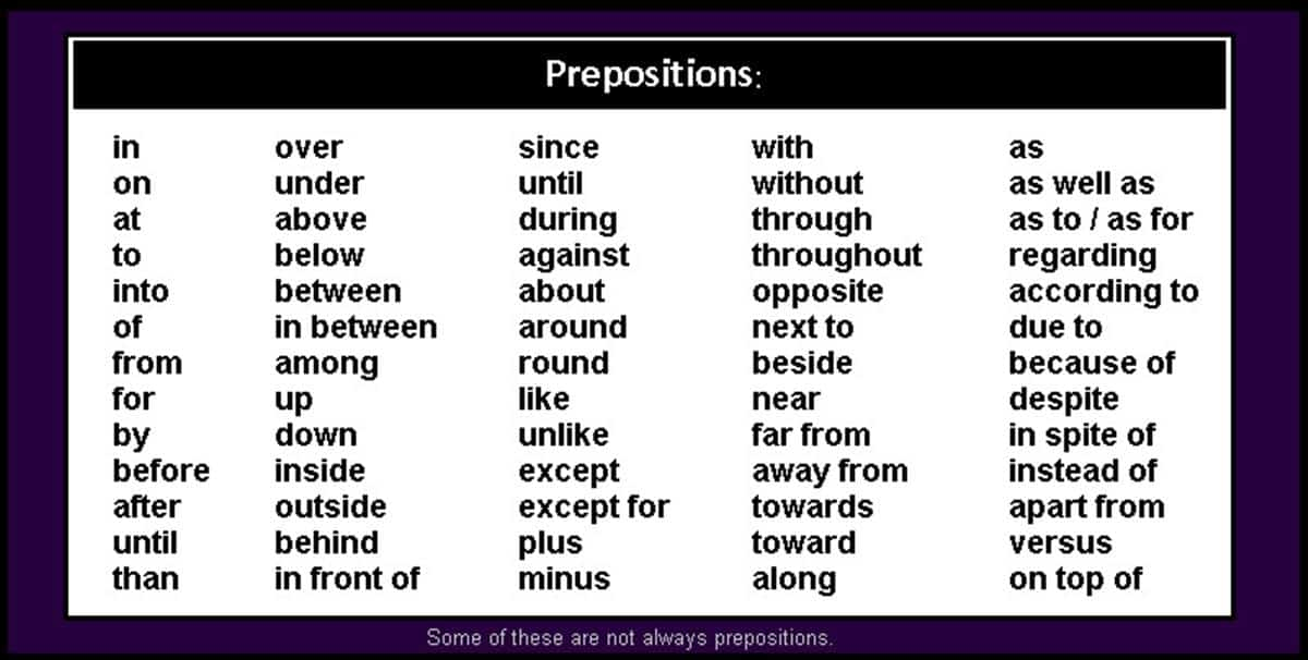 example of adverb prepositional phrase