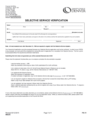 selective service letter of explanation example