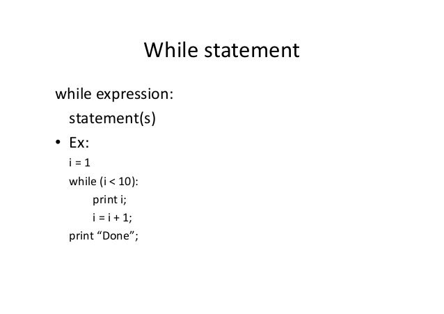 python code example using a true statement