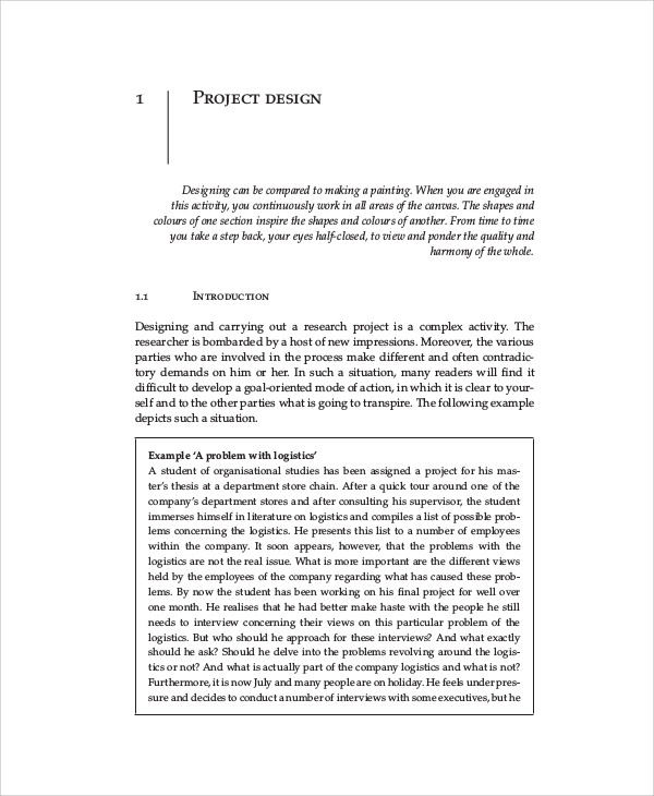 an example of a research project