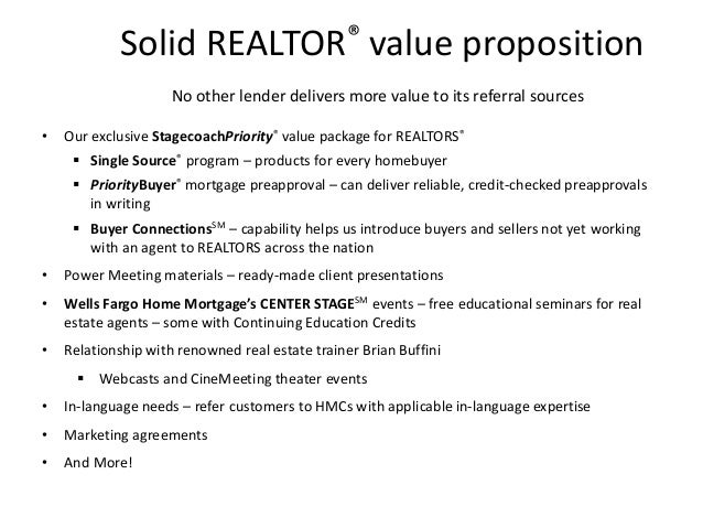 real estate agent value proposition example