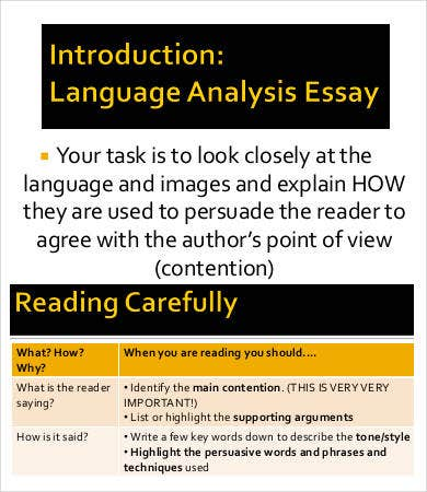 example of a vce language analysis 2017