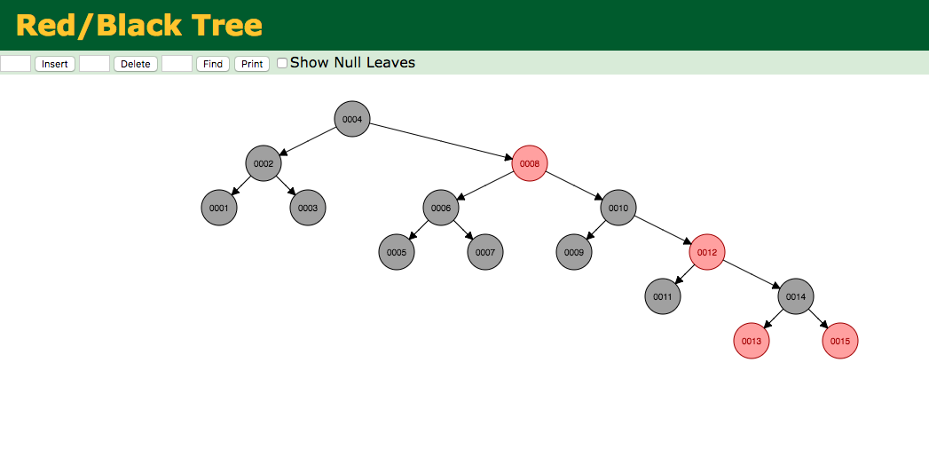 red black tree insertion example