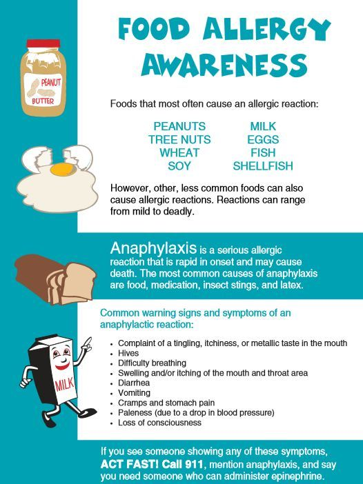 example of a food allergy