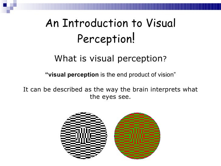example introduction psychology visual perception