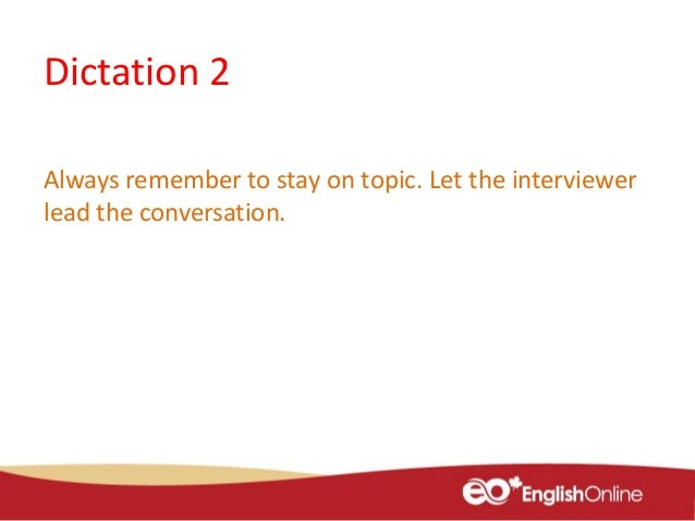 example of small talk in interview