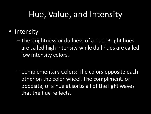 example of high intensity image