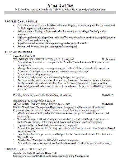 example of resume objective for administrative assistant