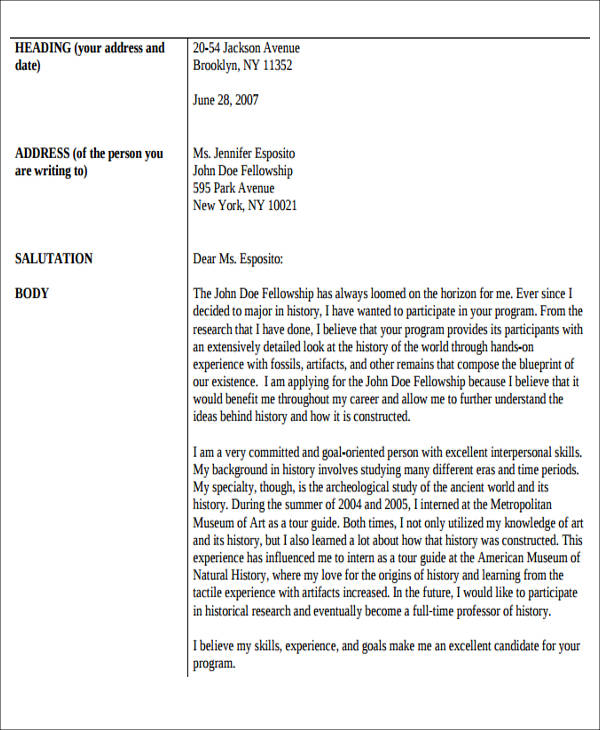 example of cover letter with enclosure