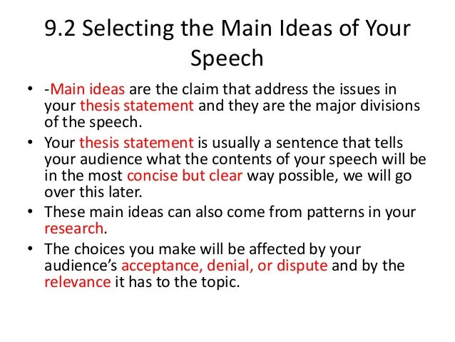 thesis statement example speeches hsc