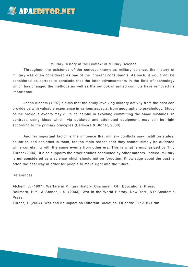 apa style reference page example