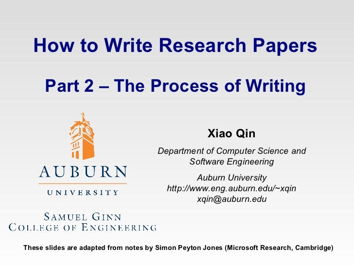 procedure section of a research paper example