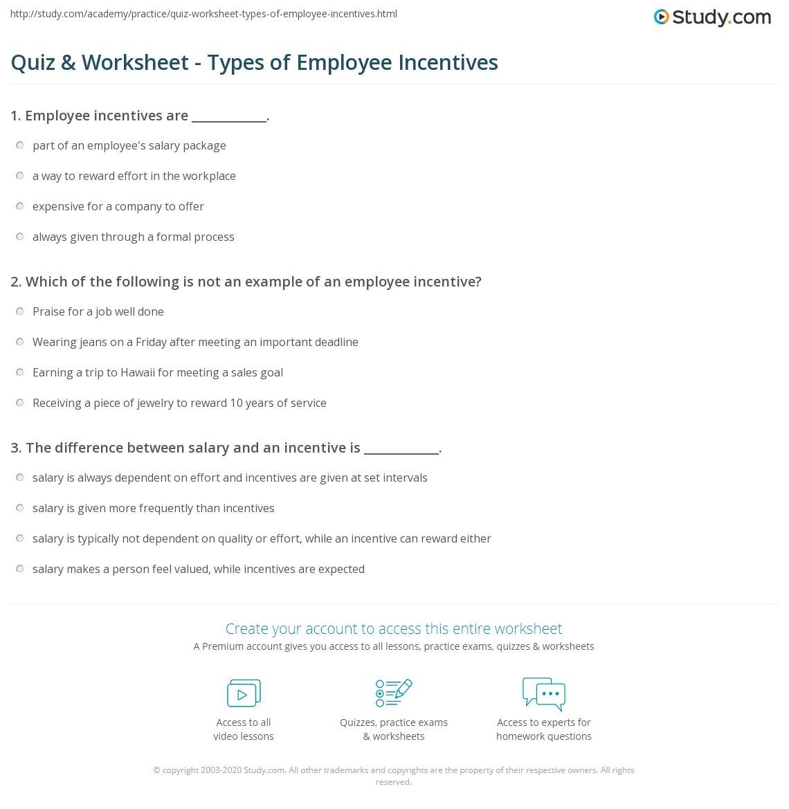 what is an example of a business incentive