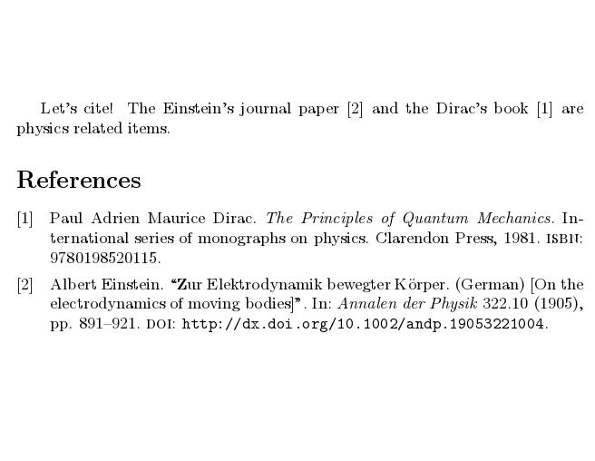 example of a bibliography for high school