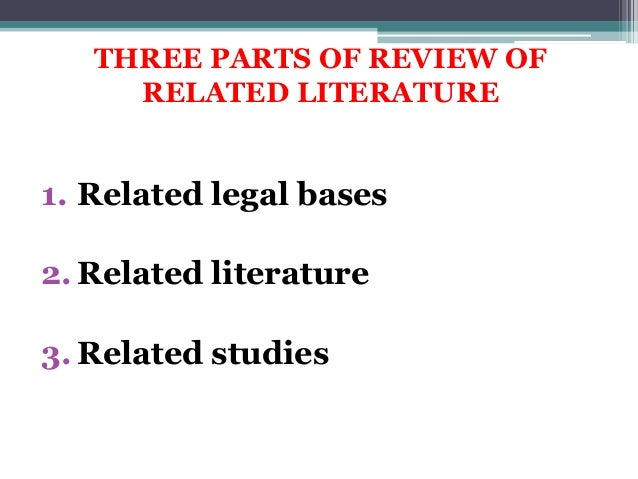 example of conclusion in review of related literature