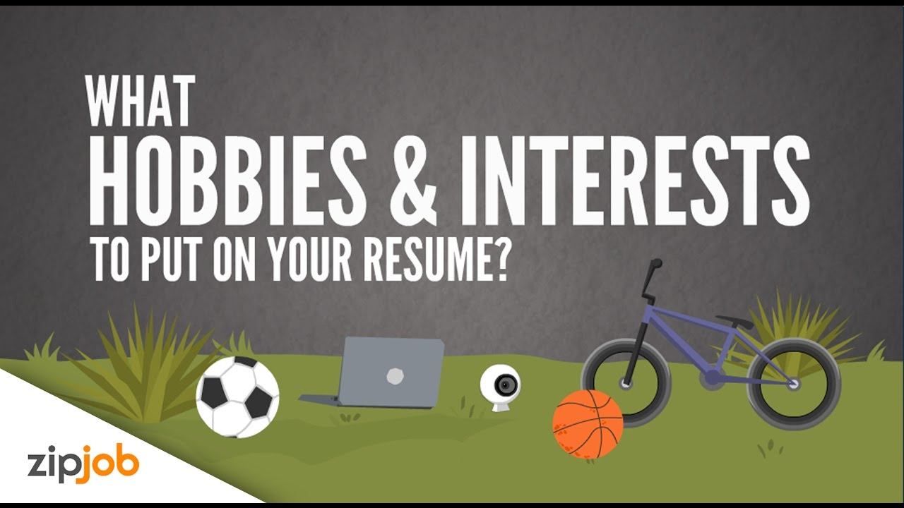 example of hobbies and interests to put on a cv