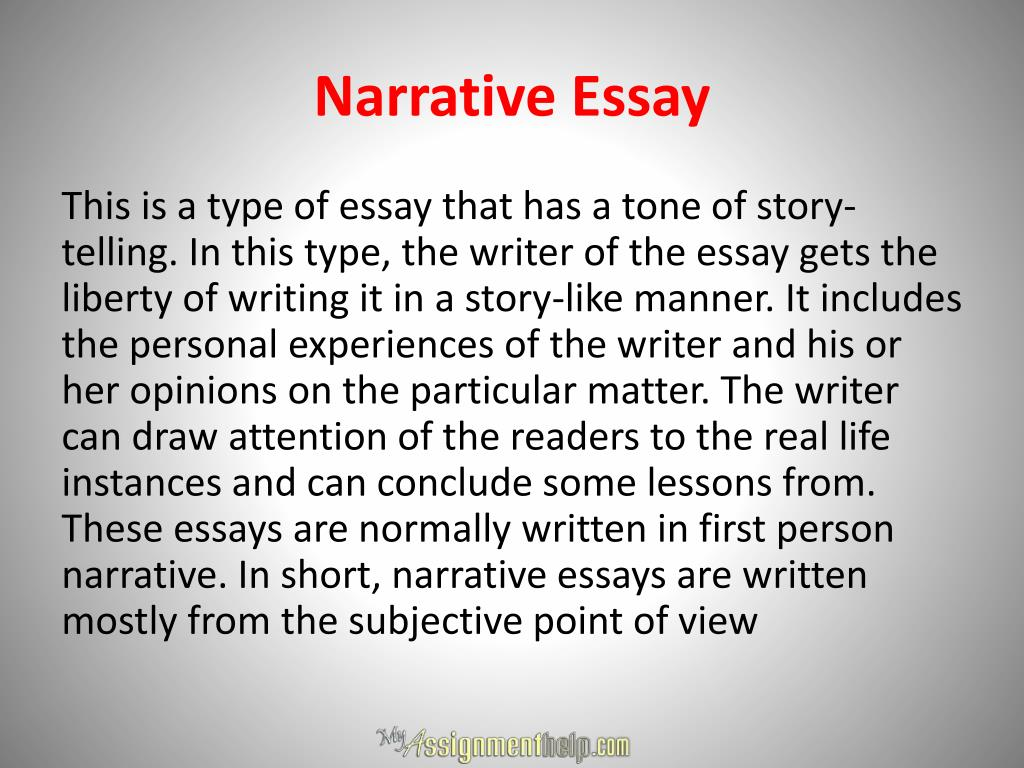 first person narrative short story example