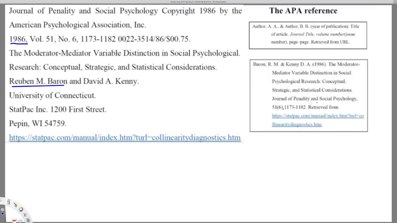 how to cite a journal article apa example