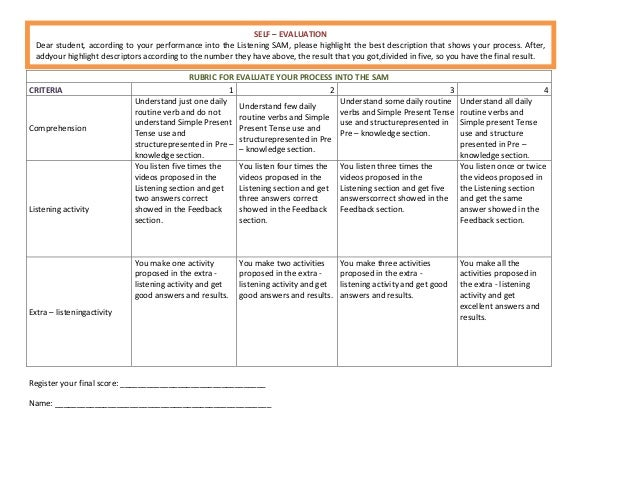 how to evaluate the process and outcome example