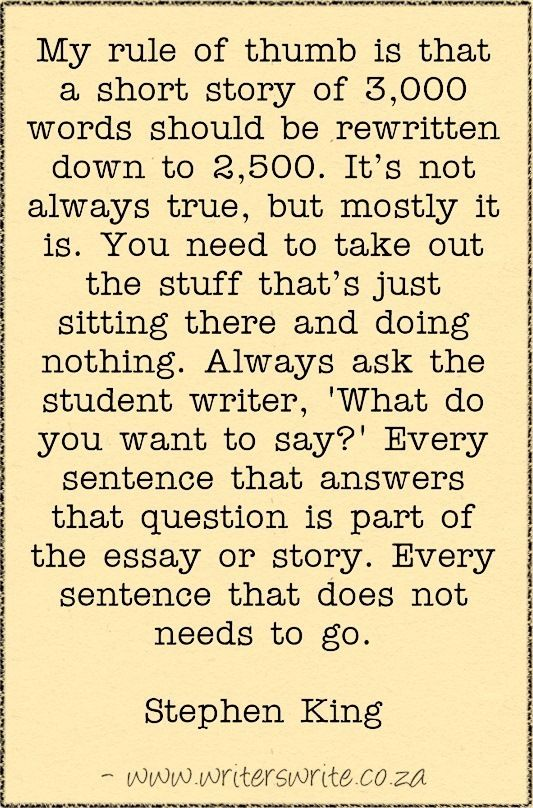 how to write a short essay example