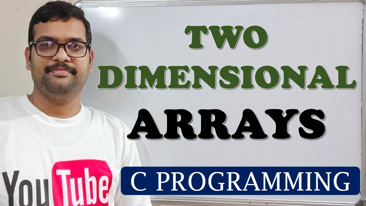 two dimensional array example program in c